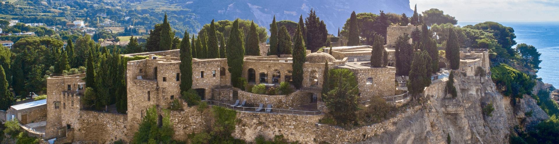 Vue panoramique du Château de Cassis
